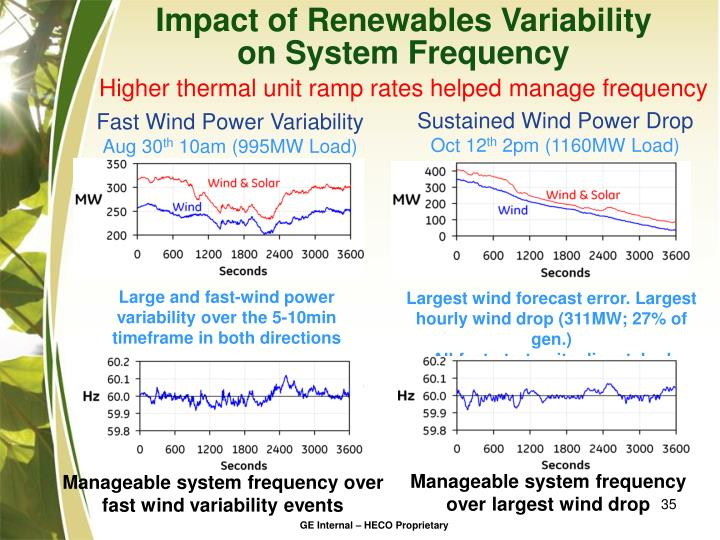 Impact of Renewables Variability
