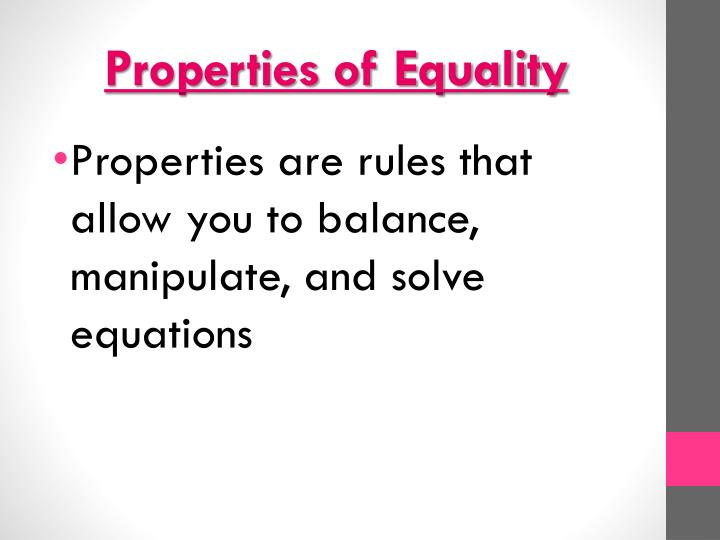properties of equality n.