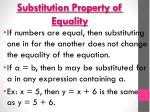 substitution property of equality