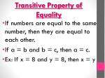 transitive property of equality