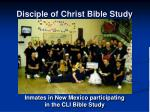 disciple of christ bible study