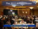 the 2012 author dinner