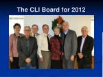 the cli board for 2012