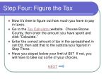 step four figure the tax
