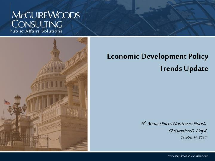 economic development policy trends update n.