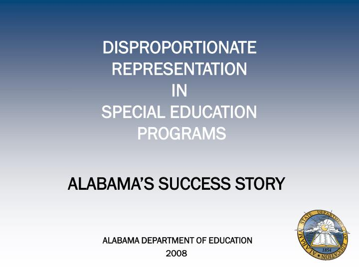 disproportionate representation in special education programs n.