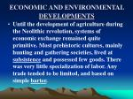 economic and environmental developments