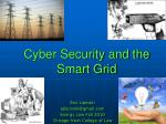 cyber security and the smart grid
