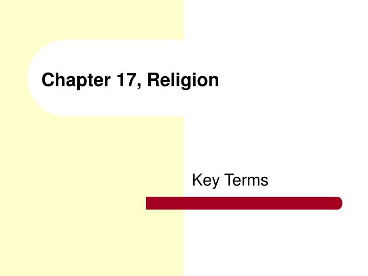 chapter 17 religion n.