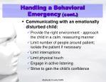 handling a behavioral emergency cont2