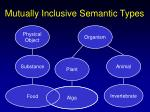 mutually inclusive semantic types