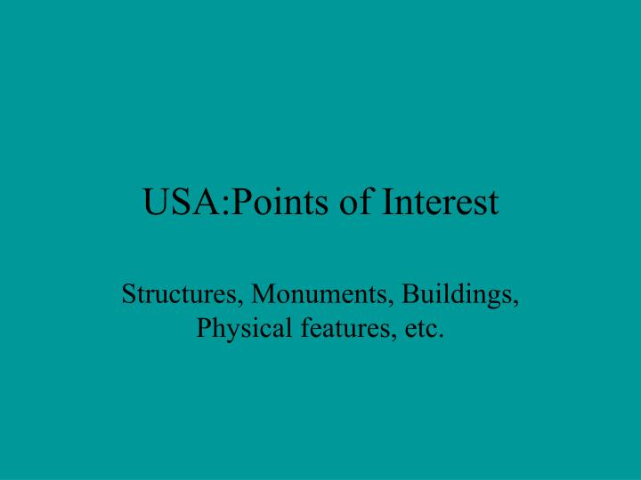 usa points of interest n.