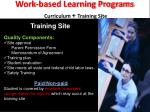 work based learning programs curriculum training site1