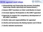 rcig agreed next steps
