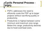 cyclic personal process psp3