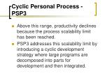 cyclic personal process psp31