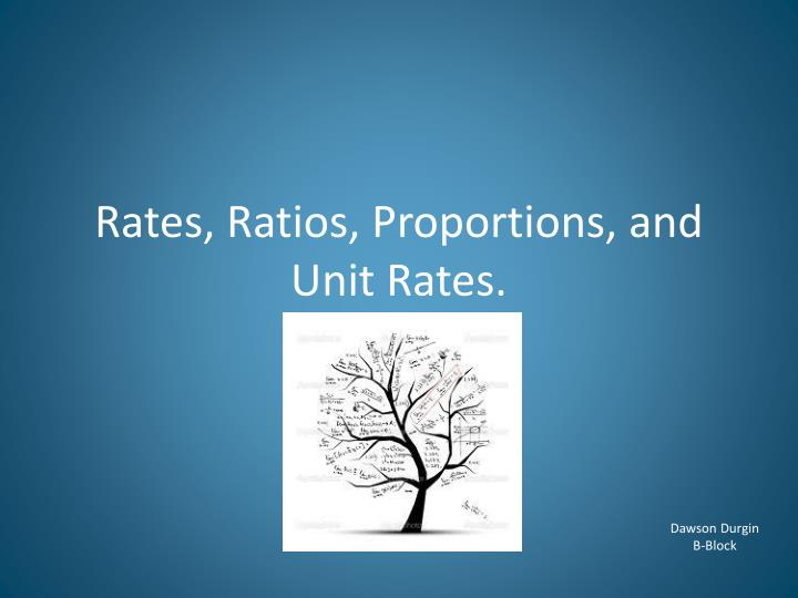 rates ratios proportions and unit rates n.