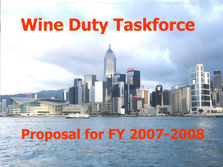 Wine duty taskforce