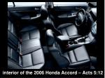interior of the 2006 honda accord acts 5 12