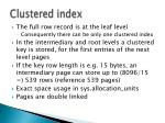 clustered index1
