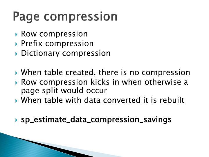 Page compression