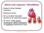 kdh da temel mekanizma ateroskleroz