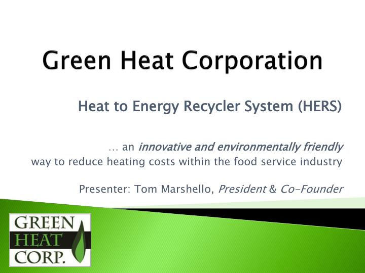 green heat corporation n.