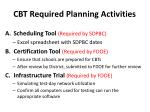 cbt required planning activities