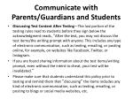 communicate with parents guardians and students2