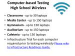 computer based testing high school wireless