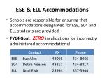 ese ell accommodations