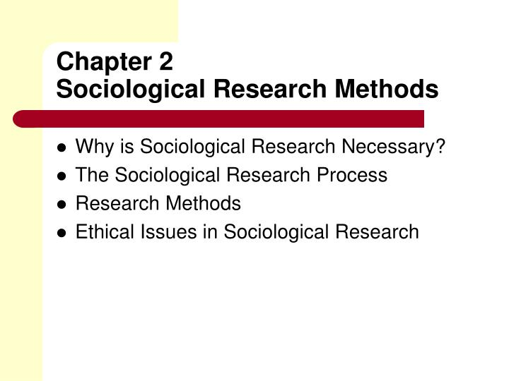 sociological research A sociological question should start with your topic of interest that examines a subject from a sociological perspective, how groups and individuals interact sociologists approach questions with the goal of finding deeper meaning in social patterns and group dynamics.