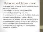 retention and advancement