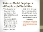 states as model employers of people with disabilities