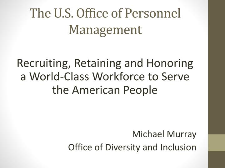 the u s office of personnel management n.