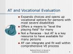 at and vocational evaluation