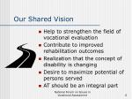 our shared vision