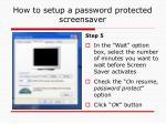 how to setup a password protected screensaver4