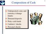 composition of cash
