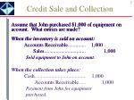 credit sale and collection