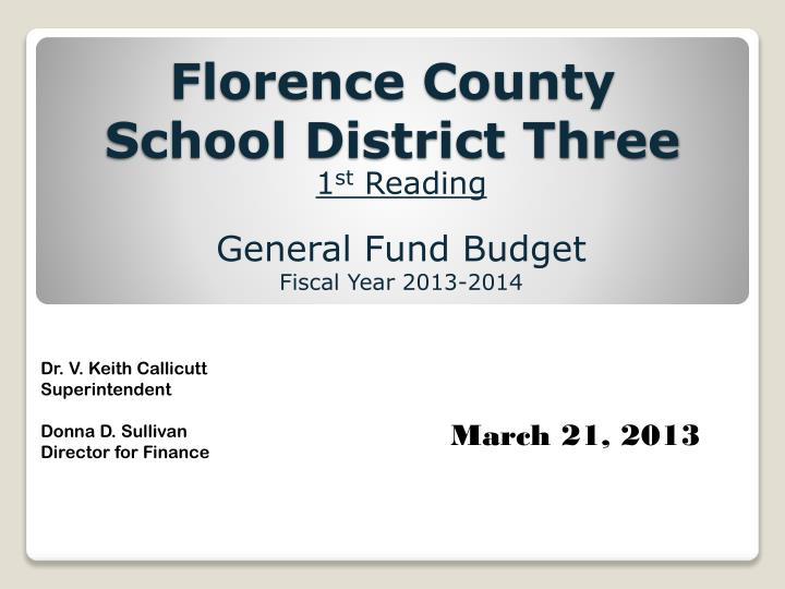 florence county school district three n.