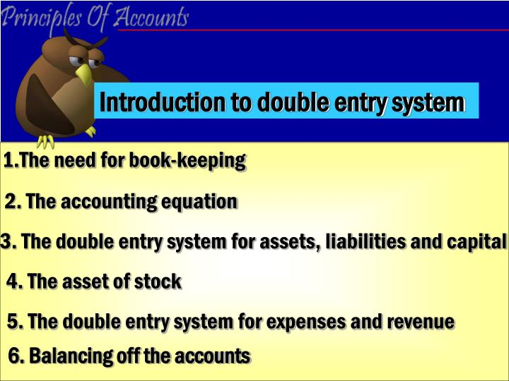 introduction to double entry system n.