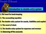 introduction to double entry system