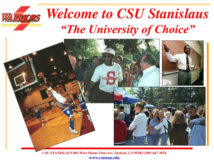 welcome to csu stanislaus the university of choice n.