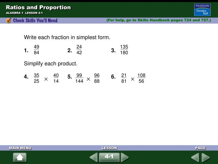 ratios and proportion n.