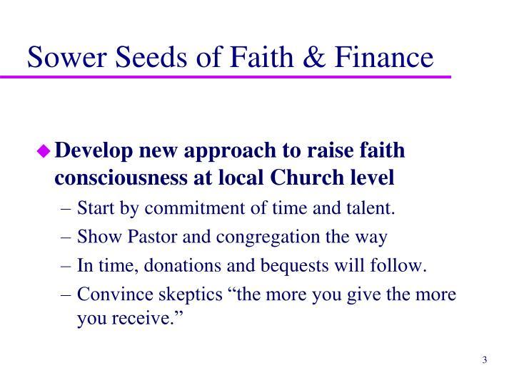 Sower seeds of faith finance