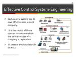 effective control system engineering1
