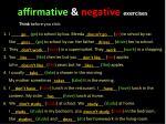affirmative negative exercises