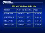 dos and windows mxi 2 kits