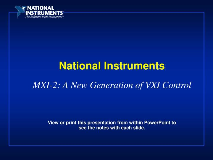national instruments n.